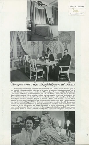 Town and Country article, November 1937