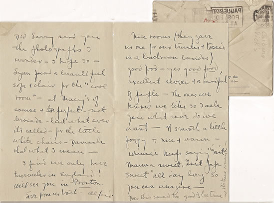 A personal letter from Alfred Lunt to Claggett Wilson