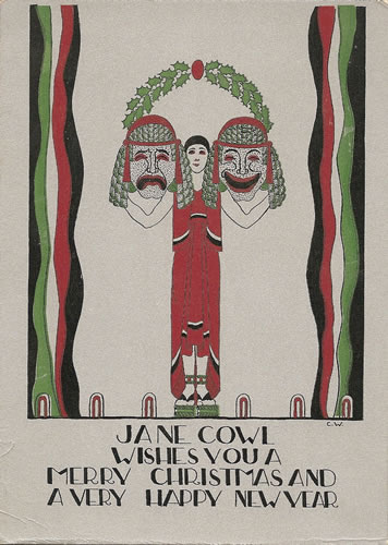 Claggett Wilson's design for Jane Cowl's Christmas Card