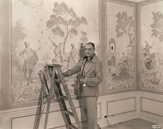 Claggett Wilson at work in the Great Parlor