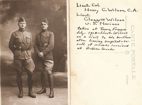 Claggett Wilson with his brother, Lieutenant Col. Harry C. Wilson