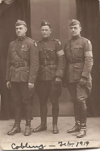 Lieutenant Claggett Wilson, right, during the occupation of Germany