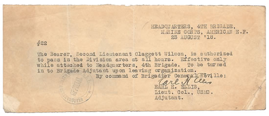 Claggett Wilson document