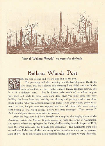 Belleau Woods Post page 1