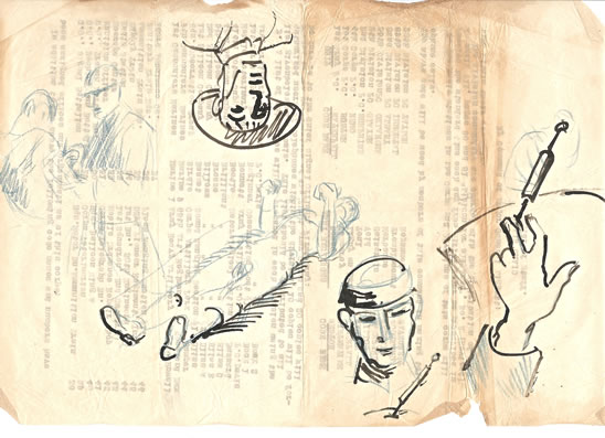 Sketches from the Front, France, 1918