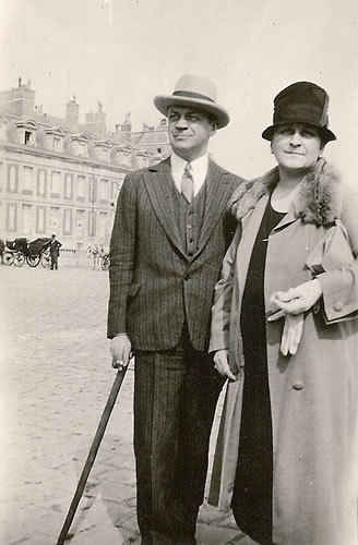 Claggett Wilson with his sister in Paris.