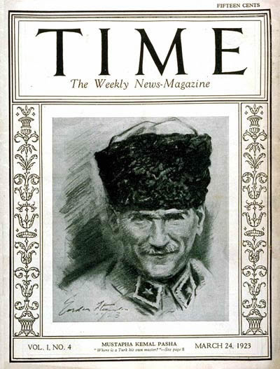 Time Magazine Cover, March 24th, 1923. Mustapha Kemal Pasha.